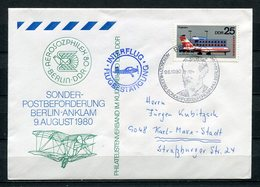 DDR Interflug Sonderbeförderung Berlin - Anklam 1980  Aerosozphilex (B509) 2517 - [6] Democratic Republic