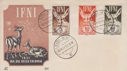 Enveloppe  FDC   1er  Jour  IFNI   Journée  Du  Timbre   1951 - Ifni
