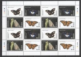 NW0023 2017 AITUTAKI NATIONAL GEOGRAPHIC ANIMALS OF THE WORLD BUTTERFLIES MICHEL 72 EURO 1SH (4SET) MNH - Farfalle
