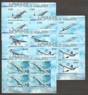 Burundi 2012 Kleinbogen Set Mi 2963-2967B MNH SUPERSONIC AIRCRAFT - CONCORDE - TUPOLEV - Concorde