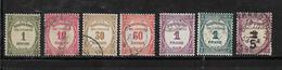 France Timbres Taxes De 1927/31 N°55 A 60 +n°65 Oblitérés 1 Neuf * - Postage Due