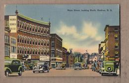CPA USA - NASHUA - Main Street , Looking North - TB PLAN Avenue CENTRE VILLE TB ANIMATION AUTOMOBILES MAGASINS - Nashua
