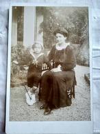 Photo Ancienne Type Cabinet - Mère Et Son Fils Dans Jardin - Autographe Au Dos - Lieu : MONACO - 1913 - TBE - Foto