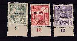 Dessau Spendenmarken, Unterrandstücke ** - Zone Soviétique