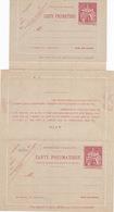 20800# ENTIER POSTAL CARTE LETTRE CHAPLAIN PNEUMATIQUE AVEC REPONSE PAYEE 30 Centimes CARMIN A6 NEUF - Postal Stamped Stationery