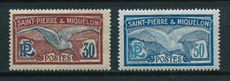 SAINT PIERRE ET MIQUELON 1915 . N°s 112 Et 114 . Neufs ** (MNH) . - St.Pierre Et Miquelon