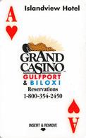 Grand Casino Islandview Hotel - Gulfport, Biloxi - Hotel Room Key Card, Hotelkarte, Schlüsselkarte, Clé De L'Hôtel - Hotelkarten