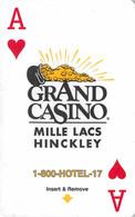 Grand Casino Mille Lacs - Hinckley, MN - Hotel Room Key Card, Hotelkarte, Schlüsselkarte, Clé De L'Hôtel - Hotelkarten