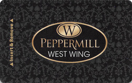 Peppermill Casino Hotel West Wing - Reno, NV - Hotel Room Key Card, Hotelkarte, Schlüsselkarte, Clé De L'Hôtel - Hotelkarten