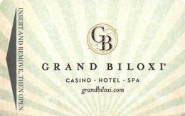 Grand Biloxi Casino Hotel - Hotel Room Key Card, Hotelkarte, Schlüsselkarte, Clé De L'Hôtel - Hotelkarten