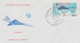 Enveloppe  FDC  1er  Jour  WALLIS  Et  FUTUNA     Avion    CONCORDE    1976 - FDC