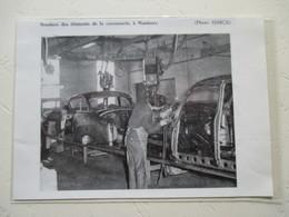 Automobile Aronde SIMCA - Chaine De Soudure - Usine De Nanterre - Coupure De Presse De 1959 - Voitures