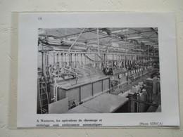 Automobile Aronde SIMCA - Chaine Automatique De Nickelage - Usine De Nanterre - Coupure De Presse De 1959 - Voitures