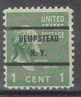 USA Precancel Vorausentwertung Preo, Bureau New York, Hempstead 804-71 - Vereinigte Staaten