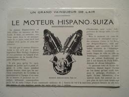 Moteur Hispano Suiza 600 Cv (Aviation)    - Coupure De Presse De 1928 - Aviation Commerciale