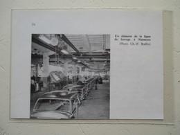 Automobile Aronde SIMCA - Chaine De Ferrage - Usine De Nanterre - Coupure De Presse De 1959 - Voitures