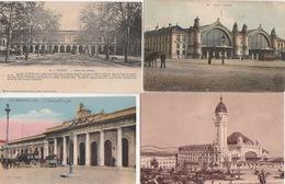 20 / 3 / 390  -   LOT  DE  16   CPA  DE  GARES  DIVERSES  -Toutes Scanées - Cartes Postales