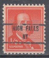 USA Precancel Vorausentwertung Preo, Locals New York, High Falls 853 - Vorausentwertungen