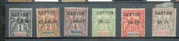 CANT 157 - YT 17 à 22 * - Charnière Complète - Canton (1901-1922)