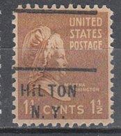 USA Precancel Vorausentwertung Preo, Locals New York, Hilton 712 - Vereinigte Staaten
