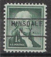 USA Precancel Vorausentwertung Preo, Locals New York, Hinsdale 729 - Vorausentwertungen