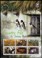 2009 Isle Of Man Country File Paintings: Pheasant, Barn Owl, Hare, Hedgehog, Cockerel, Sheep Minisheet (** / MNH / UMM) - Other