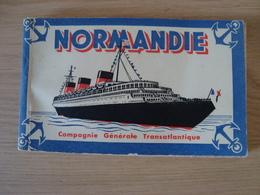 CARNET DE 20 CPA LE NORMANDIE - Steamers