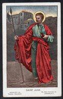 Santino: S. GIUDA - Mm. 77 X 124 - E - Santino Con Pubblicità Al Retro Prodotto A Londra - Religione & Esoterismo