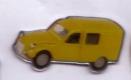 VP160 Pin's Citroën 2 CV Jaune Achat Immédiat - Citroën