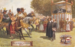 """""""Visit Of James I To Oxford""""Tuck Oilette Oxford Pageant I Ser. PC # 9518 - Tuck, Raphael"""