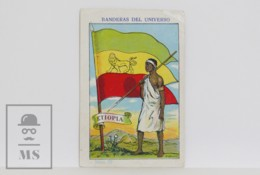 Rare 1900's Spanish Chocolate Trading Card / Chromo - 75. WWI Ethiopia Flag & Military Uniform - Other