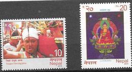 NEPAL, 2019, MNH, BUDDHISM, LORD BUDDHA, TONGUE PIERCING, 2v - Budismo