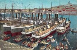 """Cartes Postales  Cp A Transports Bateaux  Commerce Marseille """"Gallia """" Corsica """" Iberia """" Numidia """" Monte Doro """" - Commercio"""