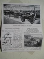 Tracteur Motochenille Moteur CLM - Ets VERMOREL à Villefranche Sur Saone (Rhone)  - Coupure De Presse De 1933 - Tracteurs