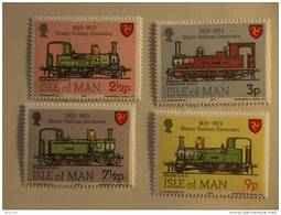 Groot Brittanië Grande-Bretagne Great Britain Man 1973 Centenaire Train à Vapeur Stoomtrein Yv 18-21 MNH ** - Man (Ile De)