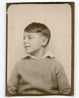 Enfant Kid Boy Garçon Photo Identité Photomaton Photobooth  30s 40s 3/4 Profil - Anonymous Persons