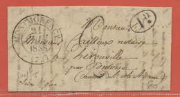 FRANCE LETTRE DE 1838 DE MONTMORENCY POUR HEROUVILLE - Autres