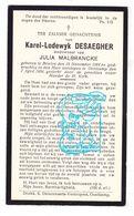 DP Karel Lodewijk Desaegher ° Brielen Ieper 1864 † Oostkamp 1934 X Julia Malbrancke Maelbrancke - Andachtsbilder