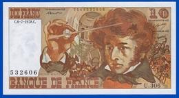 10 FRANCS BERLIOZ BILLET BANQUE DE FRANCE NEUF TYPE 1972  U.306. N° 532606 DU C.6-7-1978.C. Serbon63 - 1962-1997 ''Francs''