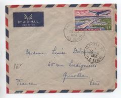 1962 - ENVELOPPE PAR AVION De PAPEETE (TAHITI / POLYNESIE FRANCAISE) - SEUL SUR LETTRE - Polynésie Française