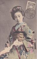 Japon  - Portrait D'une Jeune Geisha Japonaise En Kimono - Japan