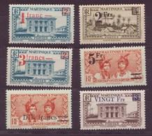 Martinique N° 220 à 225** - Martinique (1886-1947)