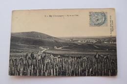CPA Dpt 51 - N°3 - Ay ( Champagne ) - Ay Et Sa Cote - 1906  (livraison Gratuit France) - Ay En Champagne