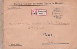 Env Recommandé Ob Tad Budapest 14 Juil 25, Env Pour Paris - Lettres & Documents