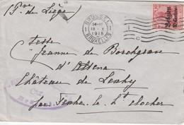 HORION HOZEMONT CHATEAU DE LEXHY LETTRE DE 1915 - Andere Verzamelingen