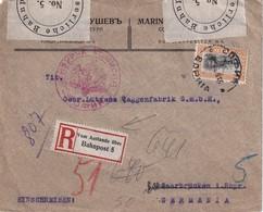 LETTRE RECOMMANDEE CENSUREE DE SOFIA 1916 VIGNETTE VOM AUSLANDE ÜBER BAHNPOST 5 - Allemagne
