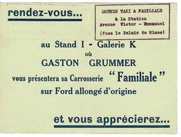 Invitation Agent FORD Gaston Grammer à Clichy , Carrosserie Familiale - Dim.12,6 X 8,6 Cm (  France ) - France