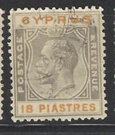 Cipro - 1924 - Usato/used - King Georg V - Mi N. 98 - Cipro (...-1960)