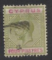 Cipro - 1912 - Usato/used - King Georg V - Mi N. 63 - Cyprus (...-1960)