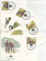 SRI LANKA - FDC 1986 - ELEFANTE - ELEPHANTS - ANIMALS - WWF - FDC